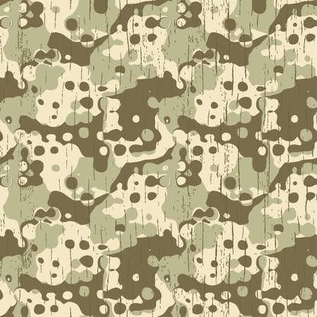 抽象的な軍のカモフラージュ テクスチャのシームレスなパターン