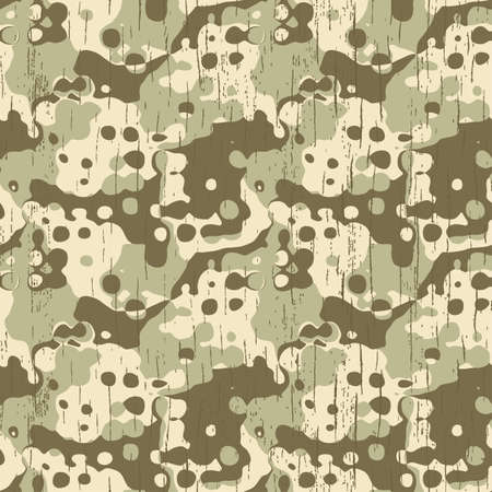Abstract military camouflage texture  Seamless pattern   Illustration