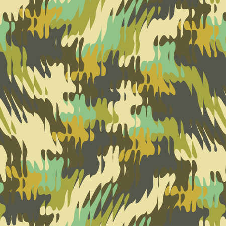 Abstract decorative refracted camouflage print  Seamless pattern
