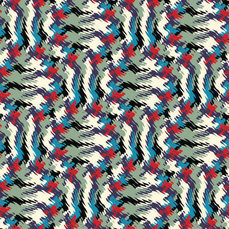 refracted: Abstract decorative wavy refracted textured print  Seamless pattern  Illustration