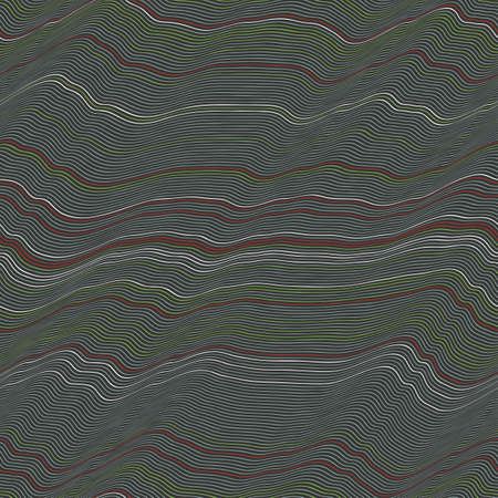 Abstract wavy wires stripes  Seamless pattern