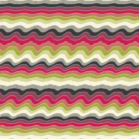 Abstract decorative wavy striped print  Seamless pattern   Illustration