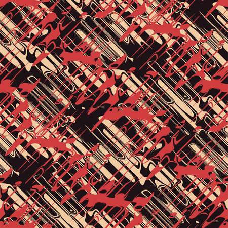 Abstract experimental urban dynamic ornament  Seamless pattern  Illustration