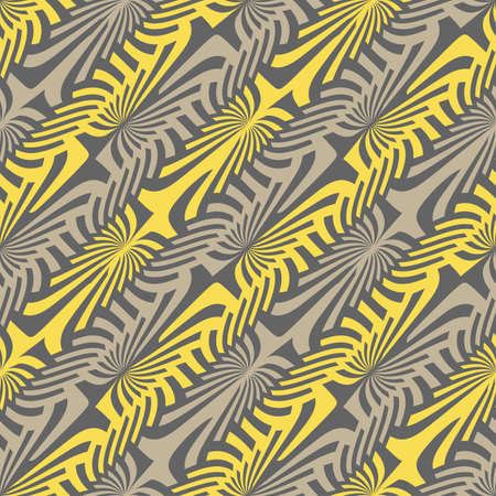 Abstract ornate striped textured background  Seamless pattern  Vector  Illustration