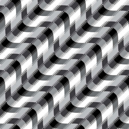 Abstract decorative wavy striped print  Seamless pattern   Vector
