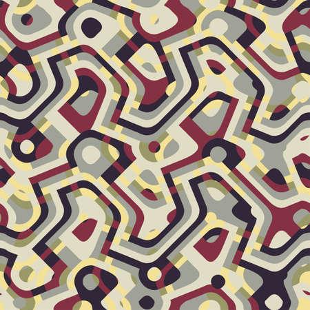 Abstract decorative city map print  Seamless pattern