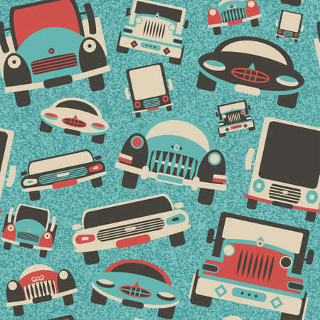 Abstract decorative cars traffic print  Seamless pattern   Vector
