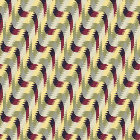 fragmentary: Abstract decorative wavy striped fragmentary edges geometric textured background  Seamless pattern