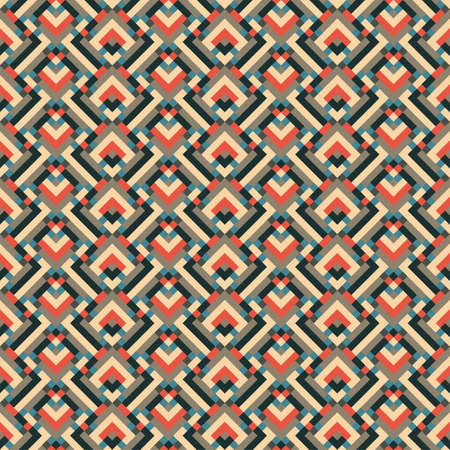 Abstract geometric ornament  Seamless pattern  Vector  Illustration