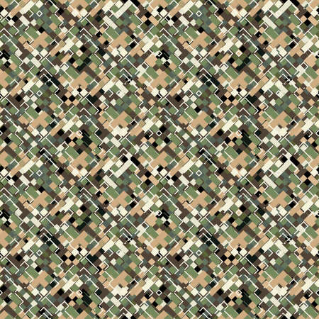 Urban camouflage geometric texture  Seamless pattern Illustration