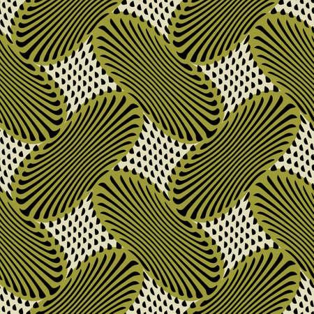 Abstract decorative geometric print  Seamless pattern  Vector  Illustration