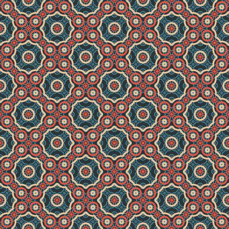 Abstract circles ornament  Seamless pattern  Vector