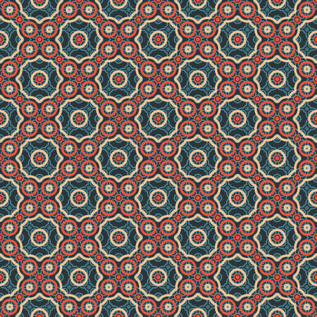 Abstract circles ornament  Seamless pattern  Vector