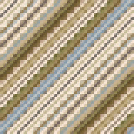 Abstract ornate pixels striped background  Seamless pattern  Vector  Illustration