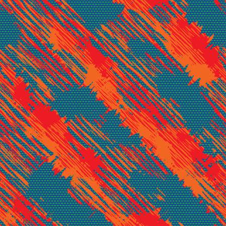 fragmentary: Resumen colorido bordes fragmentaria de impresi�n sin problemas Vector patr�n