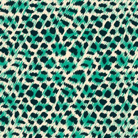 animal print background: Wild cat fur print  Seamless pattern  Vector