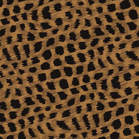 Wild cat fur print  Seamless pattern  Vector