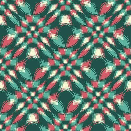Abstract decorative geometric ornament  Seamless pattern