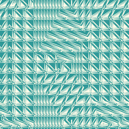 Abstract decorative refracted geometric background  Seamless pattern  Vector