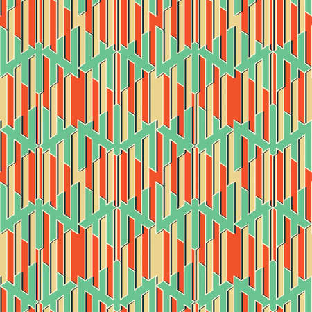 refracted: Abstract decorative geometric striped refracted background  Seamless pattern  Vector