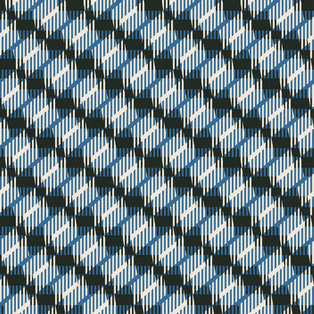Abstract decorative geometric striped refracted background  Seamless pattern  Vector