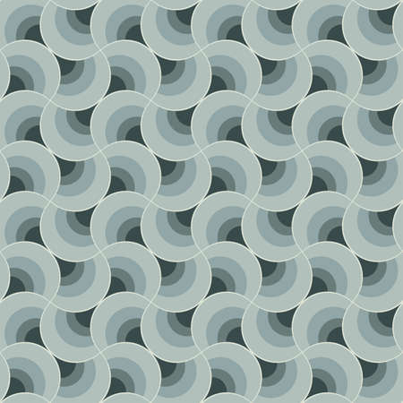 Abstract ornate geometric petals grid background  Seamless pattern  Vector  Illustration