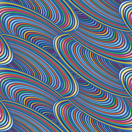Abstract colorful wires  Seamless pattern  Vector