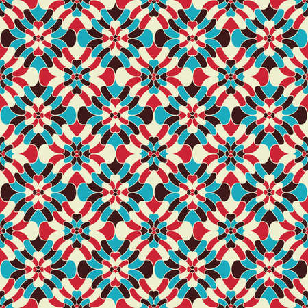 Geometric floral background  Seamless pattern  Vector