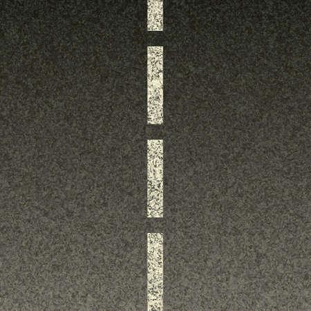 Dashed line on asphalt texture