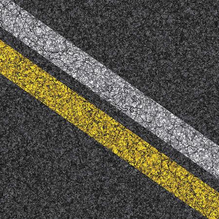 Stripes on asphalt texture