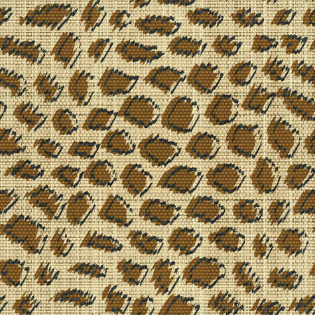 Leopard skin print  Seamless pattern