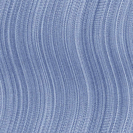 Abstract decorative textured striped old blue jeans wavy fabric background  Seamless pattern