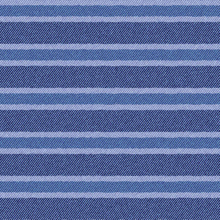 Stripes on textured jeans denim fabric background  Seamless pattern