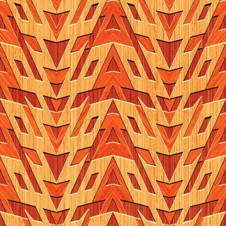 Abstract wooden striped textured geometric background  Seamless pattern