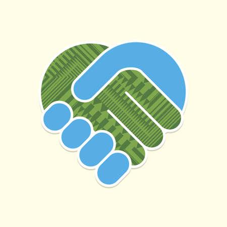 Abstrakt Handshake Standard-Bild - 20616969