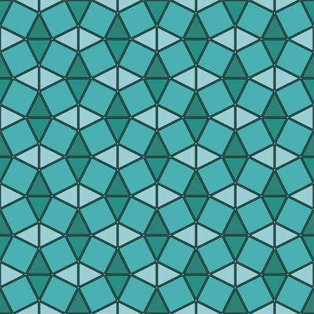 Stained glass geometric ornament  Seamless pattern   Vector
