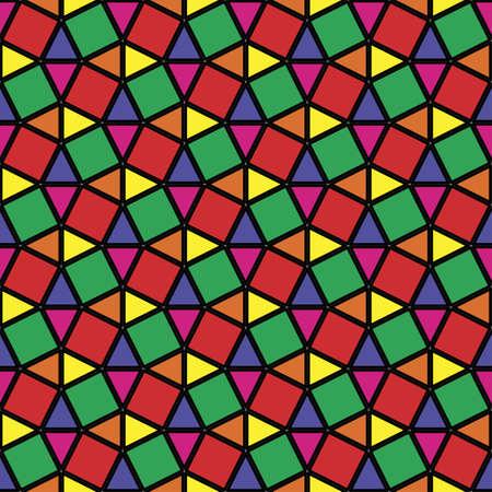 vetrate artistiche: Vetrate geometrica ornamento Seamless