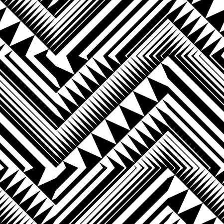 Abstract striped textured geometric seamless pattern  Illustration