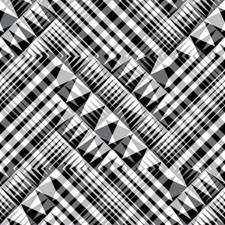 grid pattern: Abstract urban geometric seamless pattern