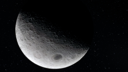 Moon in outer space, surface Reklamní fotografie
