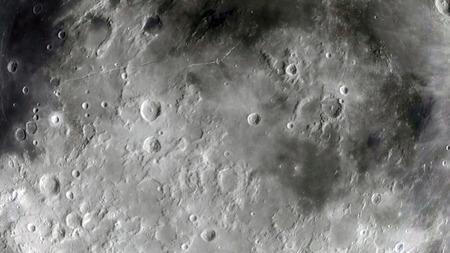 Lune dans l'espace extra-atmosphérique, surface Banque d'images