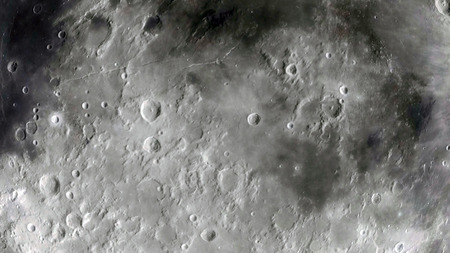 Moon in outer space, surface 免版税图像