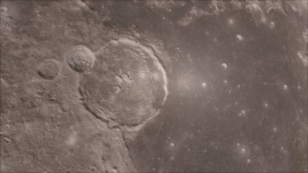 3d render, Moon high resolution image, 4k in outer space, Surface. High quality. Stok Fotoğraf