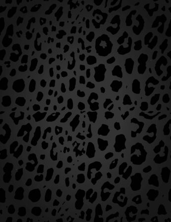 Leopard, cheetah skin seamless pattern, abstract animal background, vector illustration.