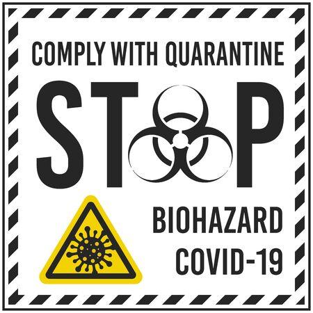 Illustrations concept, stop coronavirus COVID-19.