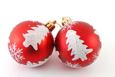 two christmas balls photo