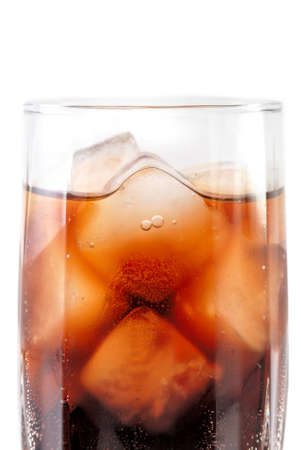 carbonation: glass with cola and ice