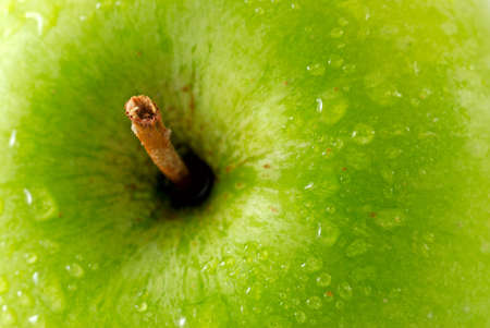 Green apple macro shot
