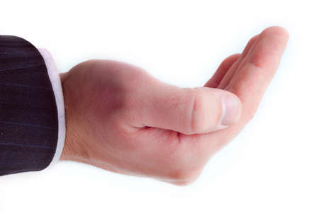 cupped hand Stock Photo - 4139086