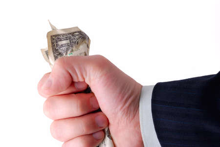 business hand holding cash Stock Photo - 4139088